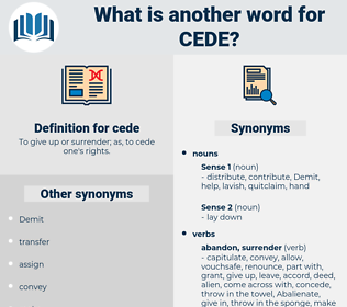 cede, synonym cede, another word for cede, words like cede, thesaurus cede