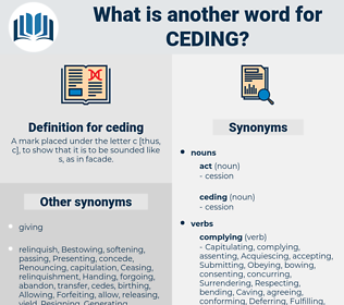 ceding, synonym ceding, another word for ceding, words like ceding, thesaurus ceding