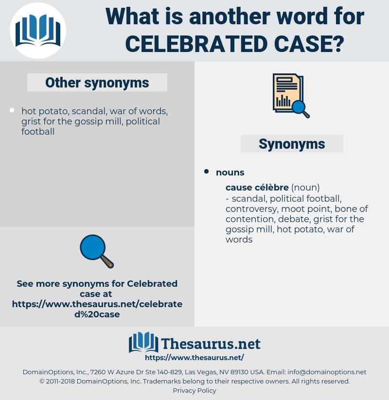 celebrated case, synonym celebrated case, another word for celebrated case, words like celebrated case, thesaurus celebrated case