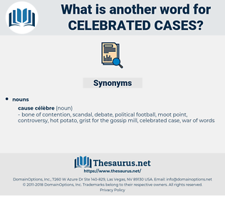 celebrated cases, synonym celebrated cases, another word for celebrated cases, words like celebrated cases, thesaurus celebrated cases