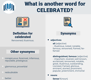 celebrated, synonym celebrated, another word for celebrated, words like celebrated, thesaurus celebrated