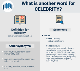 celebrity, synonym celebrity, another word for celebrity, words like celebrity, thesaurus celebrity