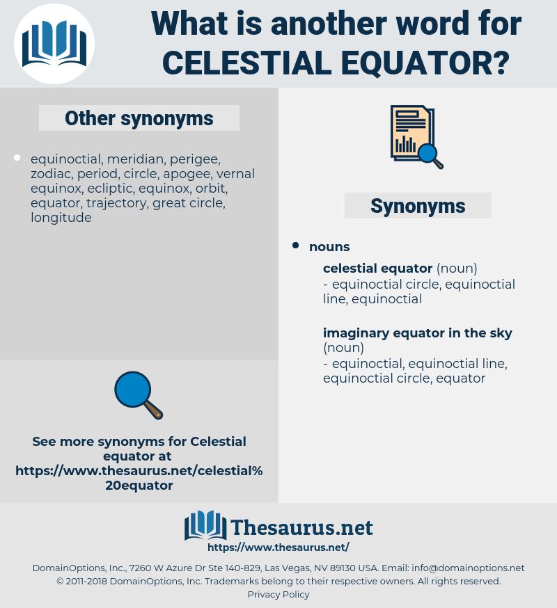 celestial equator, synonym celestial equator, another word for celestial equator, words like celestial equator, thesaurus celestial equator