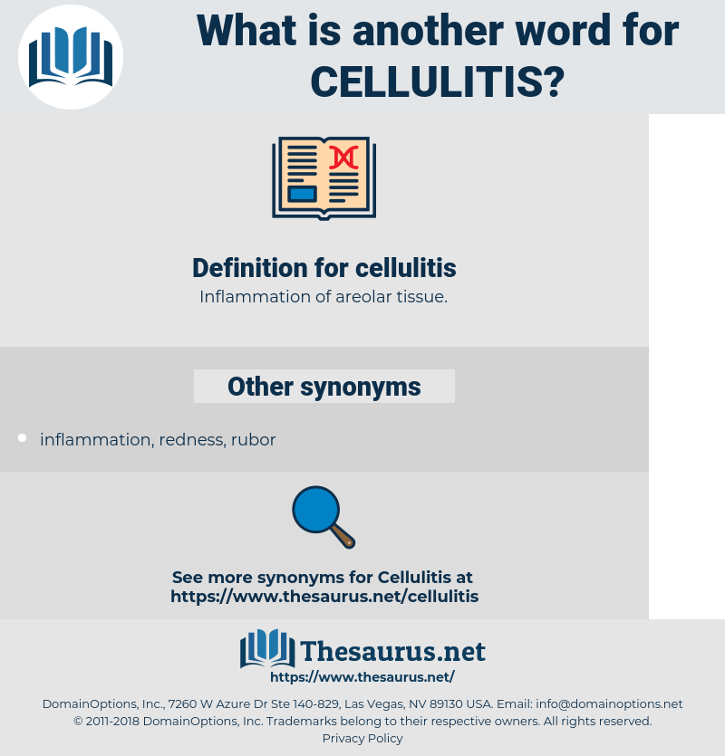 cellulitis, synonym cellulitis, another word for cellulitis, words like cellulitis, thesaurus cellulitis