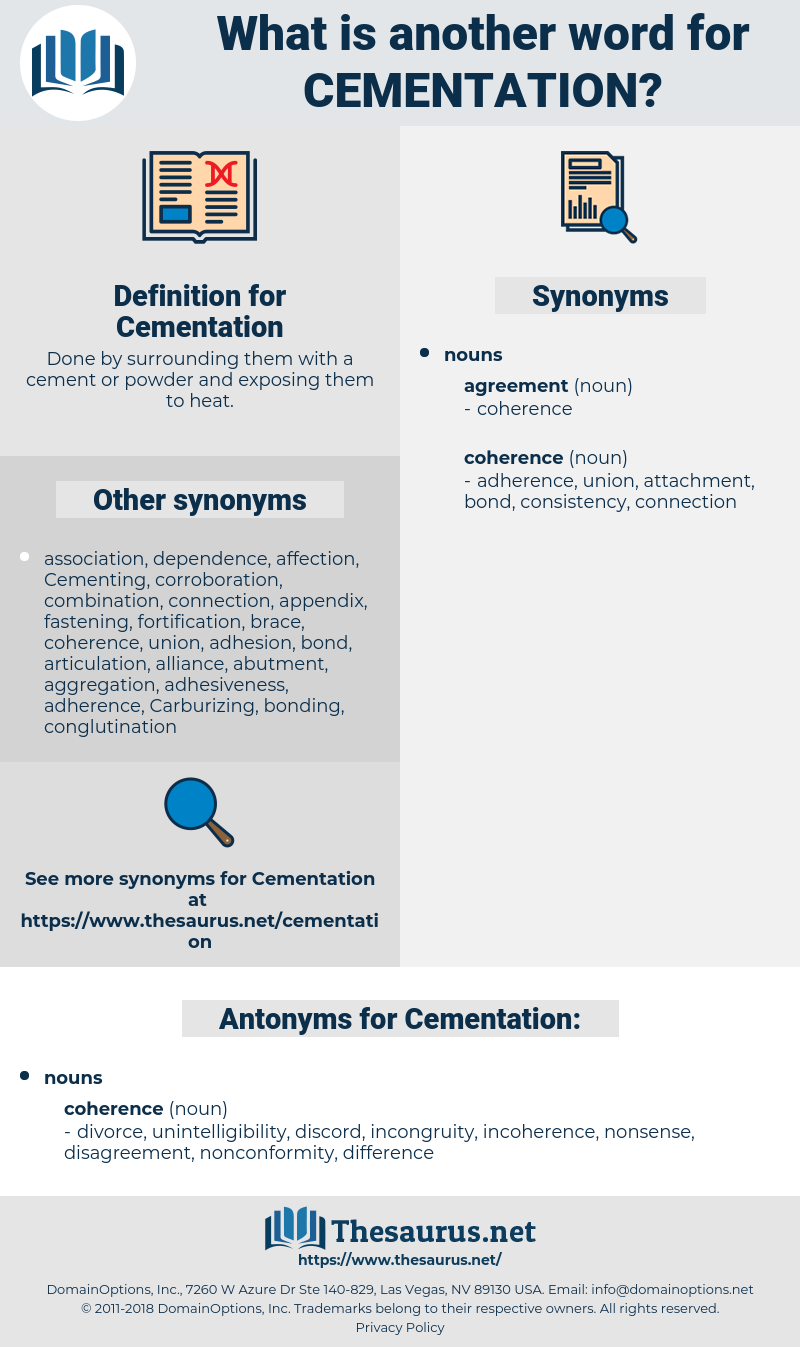 Cementation, synonym Cementation, another word for Cementation, words like Cementation, thesaurus Cementation