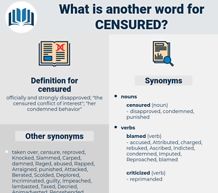censured, synonym censured, another word for censured, words like censured, thesaurus censured