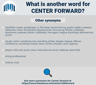 center forward, synonym center forward, another word for center forward, words like center forward, thesaurus center forward