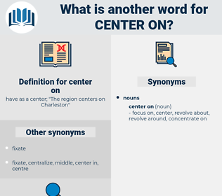 center on, synonym center on, another word for center on, words like center on, thesaurus center on