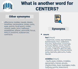 centers, synonym centers, another word for centers, words like centers, thesaurus centers