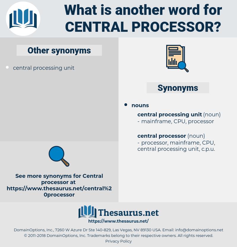 central processor, synonym central processor, another word for central processor, words like central processor, thesaurus central processor