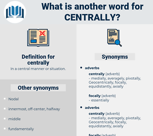 centrally, synonym centrally, another word for centrally, words like centrally, thesaurus centrally