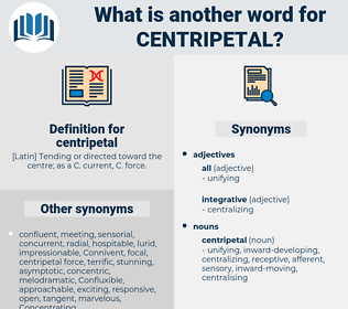centripetal, synonym centripetal, another word for centripetal, words like centripetal, thesaurus centripetal