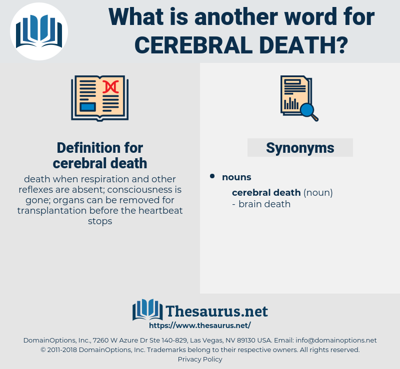 cerebral death, synonym cerebral death, another word for cerebral death, words like cerebral death, thesaurus cerebral death