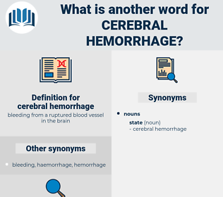 cerebral hemorrhage, synonym cerebral hemorrhage, another word for cerebral hemorrhage, words like cerebral hemorrhage, thesaurus cerebral hemorrhage