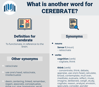 cerebrate, synonym cerebrate, another word for cerebrate, words like cerebrate, thesaurus cerebrate