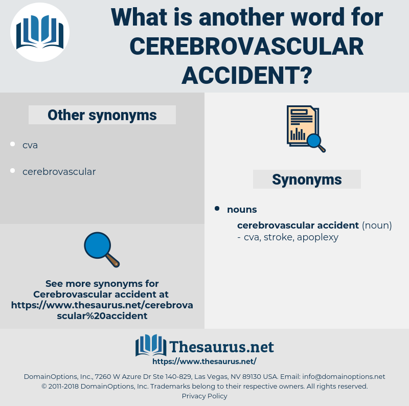 cerebrovascular accident, synonym cerebrovascular accident, another word for cerebrovascular accident, words like cerebrovascular accident, thesaurus cerebrovascular accident