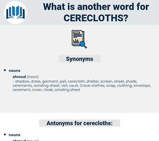 cerecloths, synonym cerecloths, another word for cerecloths, words like cerecloths, thesaurus cerecloths