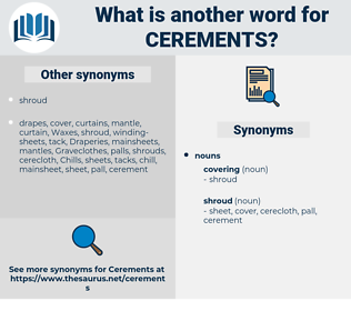 cerements, synonym cerements, another word for cerements, words like cerements, thesaurus cerements