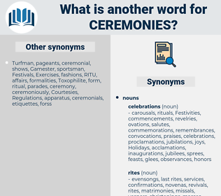 Ceremonies, synonym Ceremonies, another word for Ceremonies, words like Ceremonies, thesaurus Ceremonies