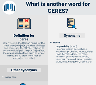ceres, synonym ceres, another word for ceres, words like ceres, thesaurus ceres