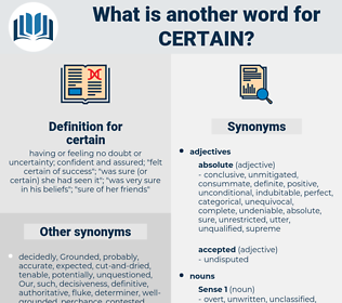 certain, synonym certain, another word for certain, words like certain, thesaurus certain