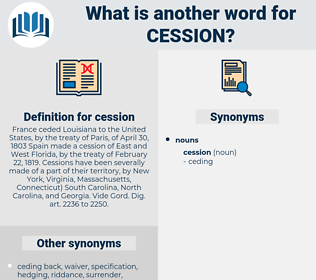 cession, synonym cession, another word for cession, words like cession, thesaurus cession