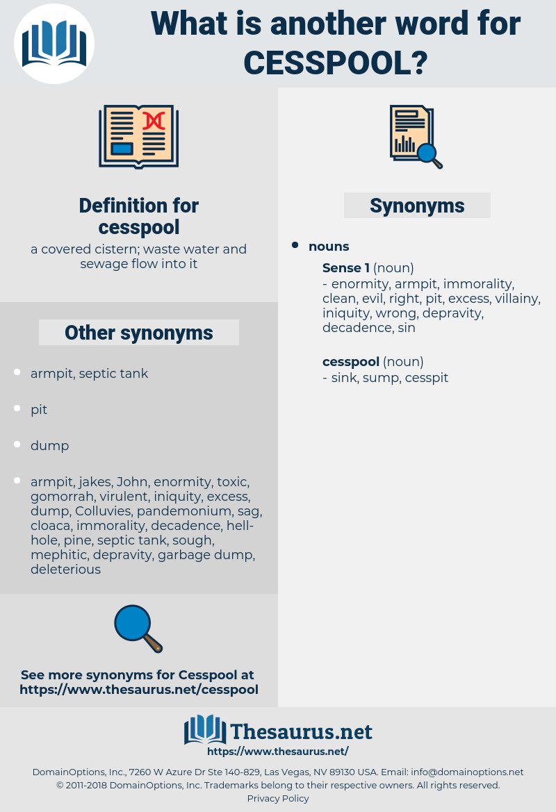 cesspool, synonym cesspool, another word for cesspool, words like cesspool, thesaurus cesspool