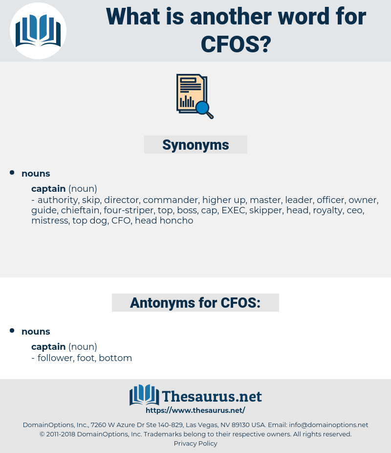 CFOS, synonym CFOS, another word for CFOS, words like CFOS, thesaurus CFOS
