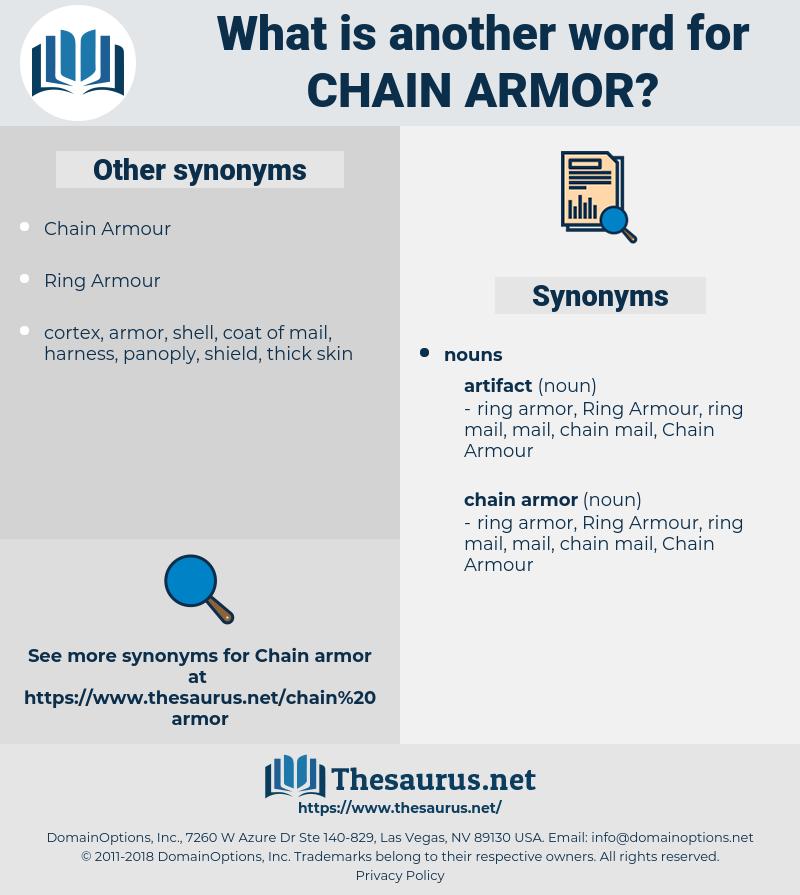 chain armor, synonym chain armor, another word for chain armor, words like chain armor, thesaurus chain armor