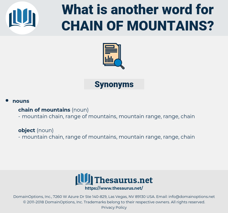 chain of mountains, synonym chain of mountains, another word for chain of mountains, words like chain of mountains, thesaurus chain of mountains