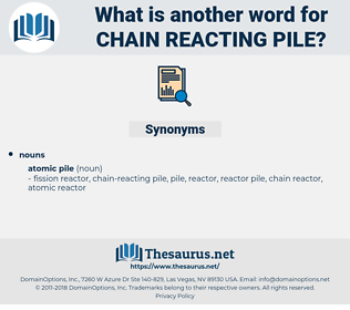 chain-reacting pile, synonym chain-reacting pile, another word for chain-reacting pile, words like chain-reacting pile, thesaurus chain-reacting pile