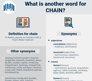 chain, synonym chain, another word for chain, words like chain, thesaurus chain