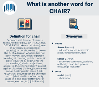 chair, synonym chair, another word for chair, words like chair, thesaurus chair