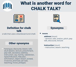 chalk talk, synonym chalk talk, another word for chalk talk, words like chalk talk, thesaurus chalk talk