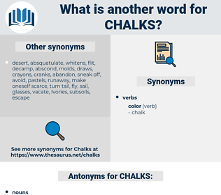 CHALKS, synonym CHALKS, another word for CHALKS, words like CHALKS, thesaurus CHALKS
