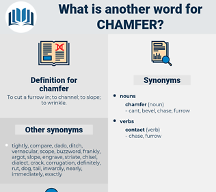 chamfer, synonym chamfer, another word for chamfer, words like chamfer, thesaurus chamfer