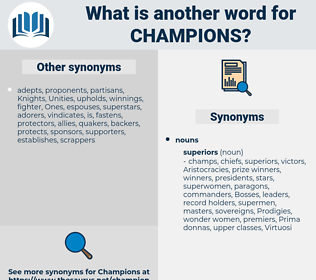 champions, synonym champions, another word for champions, words like champions, thesaurus champions