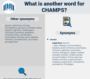 champs, synonym champs, another word for champs, words like champs, thesaurus champs