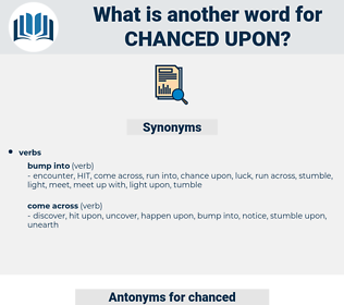 chanced upon, synonym chanced upon, another word for chanced upon, words like chanced upon, thesaurus chanced upon
