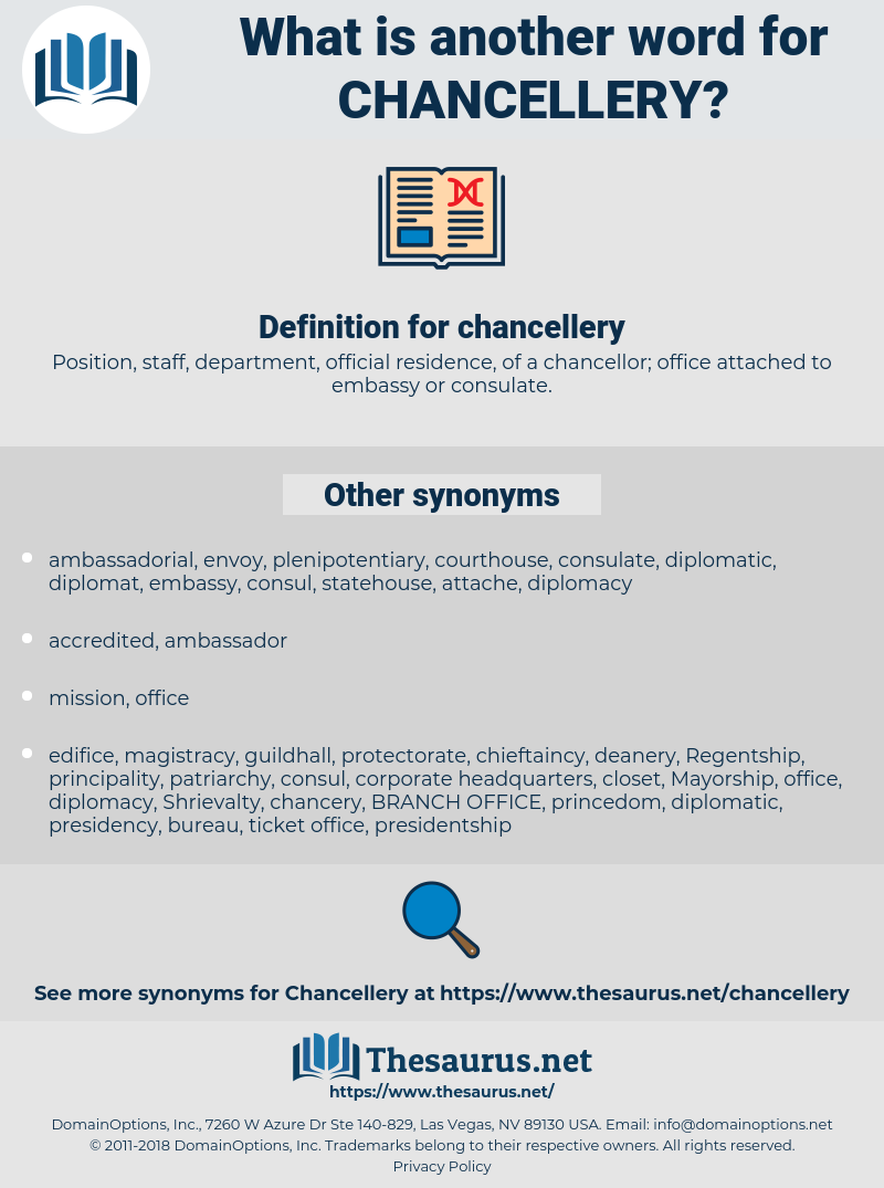 chancellery, synonym chancellery, another word for chancellery, words like chancellery, thesaurus chancellery