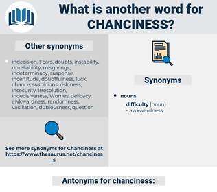 chanciness, synonym chanciness, another word for chanciness, words like chanciness, thesaurus chanciness
