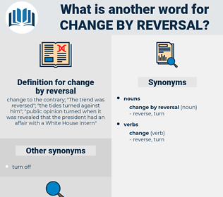 change by reversal, synonym change by reversal, another word for change by reversal, words like change by reversal, thesaurus change by reversal