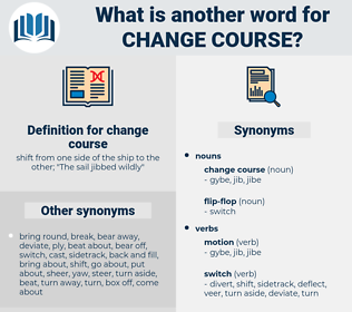 change course, synonym change course, another word for change course, words like change course, thesaurus change course