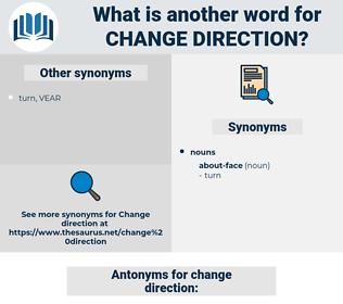 change direction, synonym change direction, another word for change direction, words like change direction, thesaurus change direction