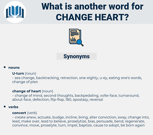 change heart, synonym change heart, another word for change heart, words like change heart, thesaurus change heart