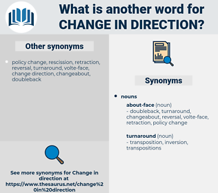 change in direction, synonym change in direction, another word for change in direction, words like change in direction, thesaurus change in direction