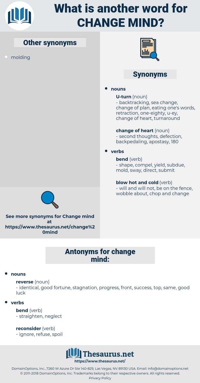 change mind, synonym change mind, another word for change mind, words like change mind, thesaurus change mind