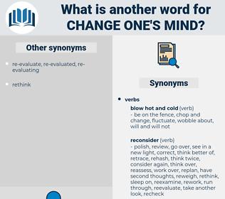 change one's mind, synonym change one's mind, another word for change one's mind, words like change one's mind, thesaurus change one's mind