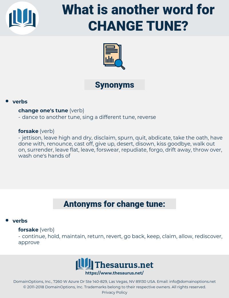 change tune, synonym change tune, another word for change tune, words like change tune, thesaurus change tune
