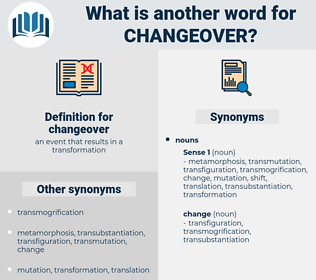 changeover, synonym changeover, another word for changeover, words like changeover, thesaurus changeover